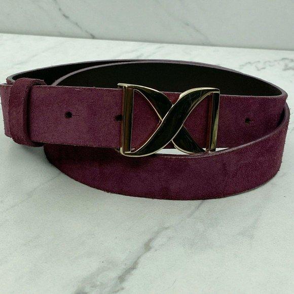 Banana Republic Purple Suede Leather Belt Large